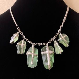 Sea Glass Necklace And Matching Bracelet